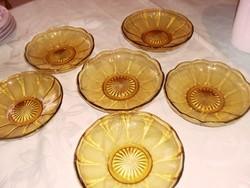 Borostyán antik tányér 6 darab