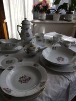 Herendi Bouquet Rothschild kézzel festett étkészlet és teáskészlet