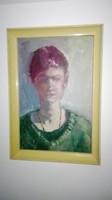 Bernáth Aurél : Női portré , olajfestmény, Képcsarnok,1 Ft.!!!Minden termék 1 Ft!!!Karácsonyi ajándé