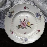 Herendi fajansz tányér, szalagos jelzéssel