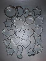 Süti sütemény kiszúró forma figurális 20 darab cukrász eszköz