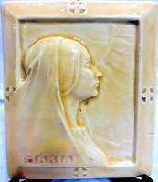 ZSOLNAY: Apáti Abt Sándor: Madonna relief, ABT SZIGNÓVAL