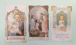 Régi kis szentkép csipkés szélű vallási emléklap 1899 imalap 3 db