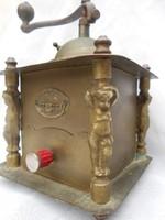 Karácsonyra! Réz antik Record kávédaráló.Ritka,gyűjtői darab.