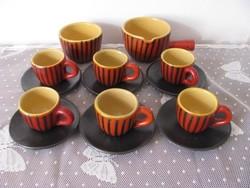 Tófej jelzésű kerámia kávés készlet