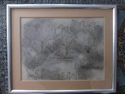 Kolbe Mihály ceruza rajz