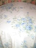Csodaszép kék rózsacsokros vintage paplanhuzat