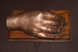 Régi, bécsi kézfej galvanoplasztika.