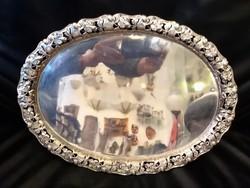 Szecessziós ezüst tálca