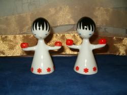 Art deco Hollóházi porcelán angyalpár
