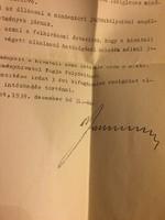 A kivégzett Reményi-Schneller Lajos 1939-es kinevező okmánya!
