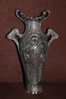 Szecessziós spiáter váza.