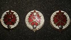 Hadsereg Bajnok arany , ezüst és bronz fokozat