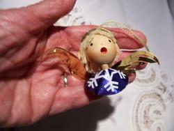 Búbájos angyalka-karácsonyfadísz - iparművész munkája a múlt századból