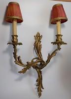 Antik aranyozott bronz falikar