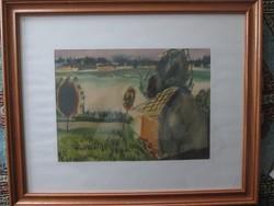 Bartl József akvarell