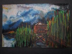 Régi pasztell festmény