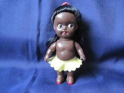 Gyönyörű retro eredeti négerbaba trafikáru néger gumi baba 11 cm