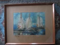 Somogyi István akvarell