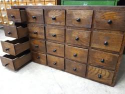 Antik régi fiókos szekrény