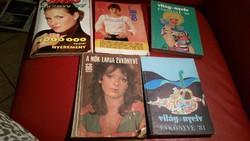 Retro évkönyvek eladók! Füles 1997,Nők lapja 1983,Világ nyelv 80-81,Éva 78 év.
