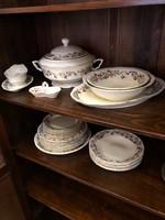 Zsolnay kézzel festett porcelánfajansz 6 személyes étkészlet gyönyörű állapotban -nem használt!!!