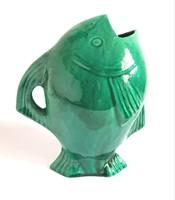 Gorka Géza korai Nógrádverőcei műhely alkotása Hal dísztárgy váza