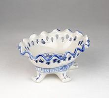 0U234 Delft Holland áttört lábas porcelán tálka