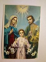 Szűz Mária és József a gyermek Jézussal imalap