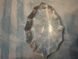 Csiszolt kristály medál 6,5-CM X 4,5-CM