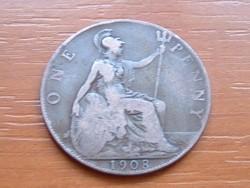 ANGLIA ANGOL 1 PENNY 1908