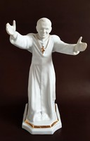 Ritka! Hollóházi II.János Pál Pápa 28cm I.oszt!