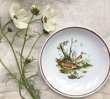 Hollóházi madaras tányér (dísztányér) 15cm átm.