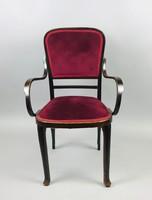Thonet karfás , kárpitos szék