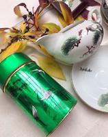 Daru madaras csodás fémdoboz és nagyobb porcelán kínai  kiöntő