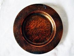 Antik kézműves réz fali tál, tányér