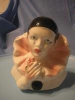 N7 Pieró Nagyméretű art decó porc.20 cm- fej ritkaság ajándékozhatóan ritkaság