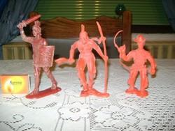 Retro játék harcos - három darab - katona, indián....