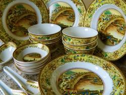 Jingdezhen guci csont porcelán étkészlet 25 részes