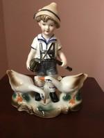 Libapásztor fiú porcelán figura