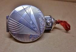 Egyedi szép régi ezüst rúzstartó tükörrel egyben