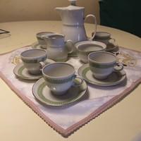 Colditz GDR német porcelán kávéskészlet