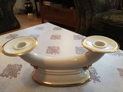 Kétágú nagy régi porcelán gyertyatartó