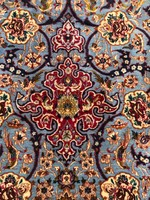 Exluzív Kézicsomózású Isfahan Szőnyeg Selyemfonallal 110x168