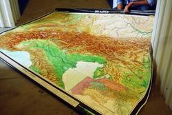 Hatalmas ALPOK földrajzi térkép falitérkép iskolai szemléltető ALPOK térkép poszter retró dekoráció