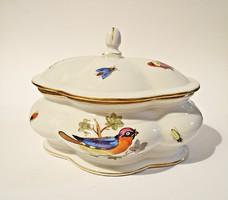 Antik Ó Herendi Rotchild mintás porcelán bonbonier