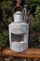 Szép Ritka Hajó lámpa hajós sarok petróleum lámpa Kb 50cm Nagy réz kéményes