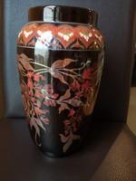 Nagyon különleges, gyönyörű Zsolnay többtüzű eozin váza szecessziós stílusban, hibátlan