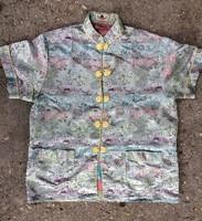 Kínai selyem ruha, köpeny ,republik időszak 1912-1949