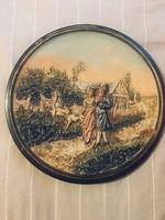 Johann Maresch antik kerámia tányér - KIHAGYHATATLAN BOMBA ÁR